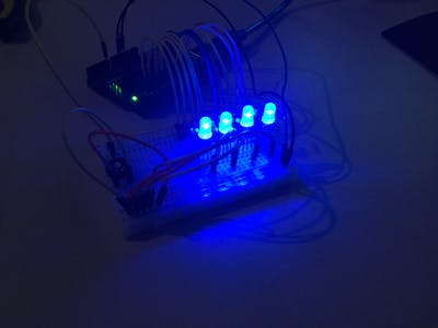 4x RGB-LED Running Light!