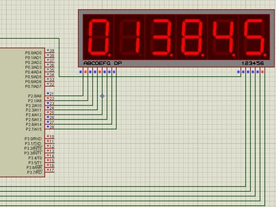 Digital Clock Using 8051 with 7 Segment Display