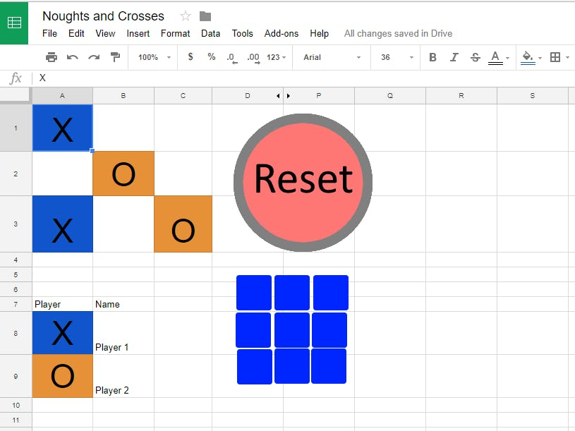 Google Sheets Noughts And Crosses - Hackster io
