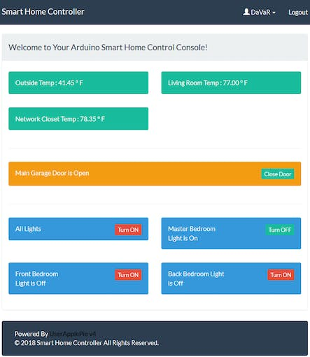 Web Site Controller Home Page