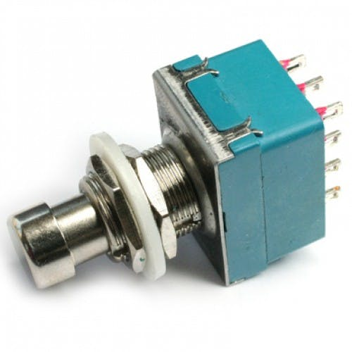 4PDT STOMP FOOT / PEDAL SWITCH LATCHING