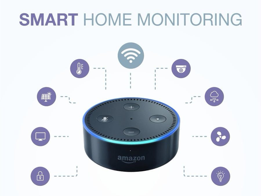 alexa based smart home monitoring. Black Bedroom Furniture Sets. Home Design Ideas