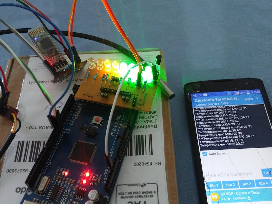Measuring temperatures with LM35 and DS18B20