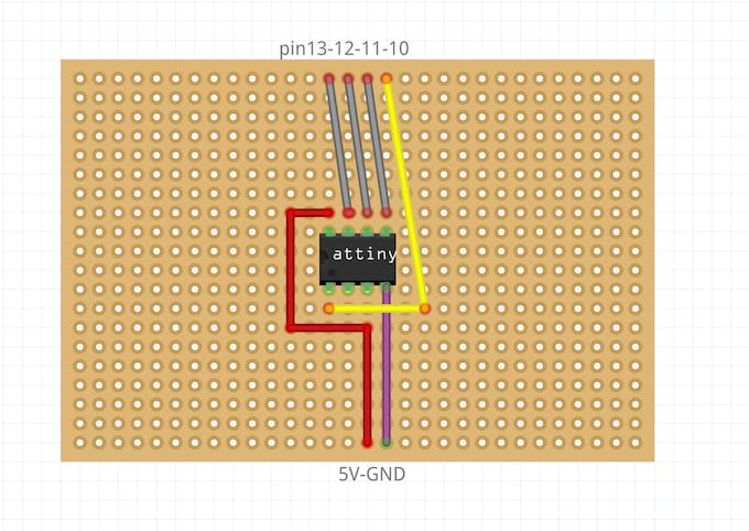 On my final board, I added a LED ton indicate if the 5V pin and the GND pin are well connected