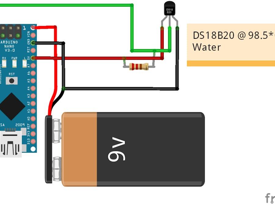 Nano Waterproof Temperature Sensor @ 98.5*C - ster.io on