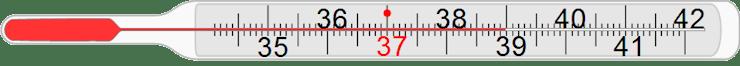 Thermometer zum Messen der Temperatur - jeder Wert ist jederzeit möglich