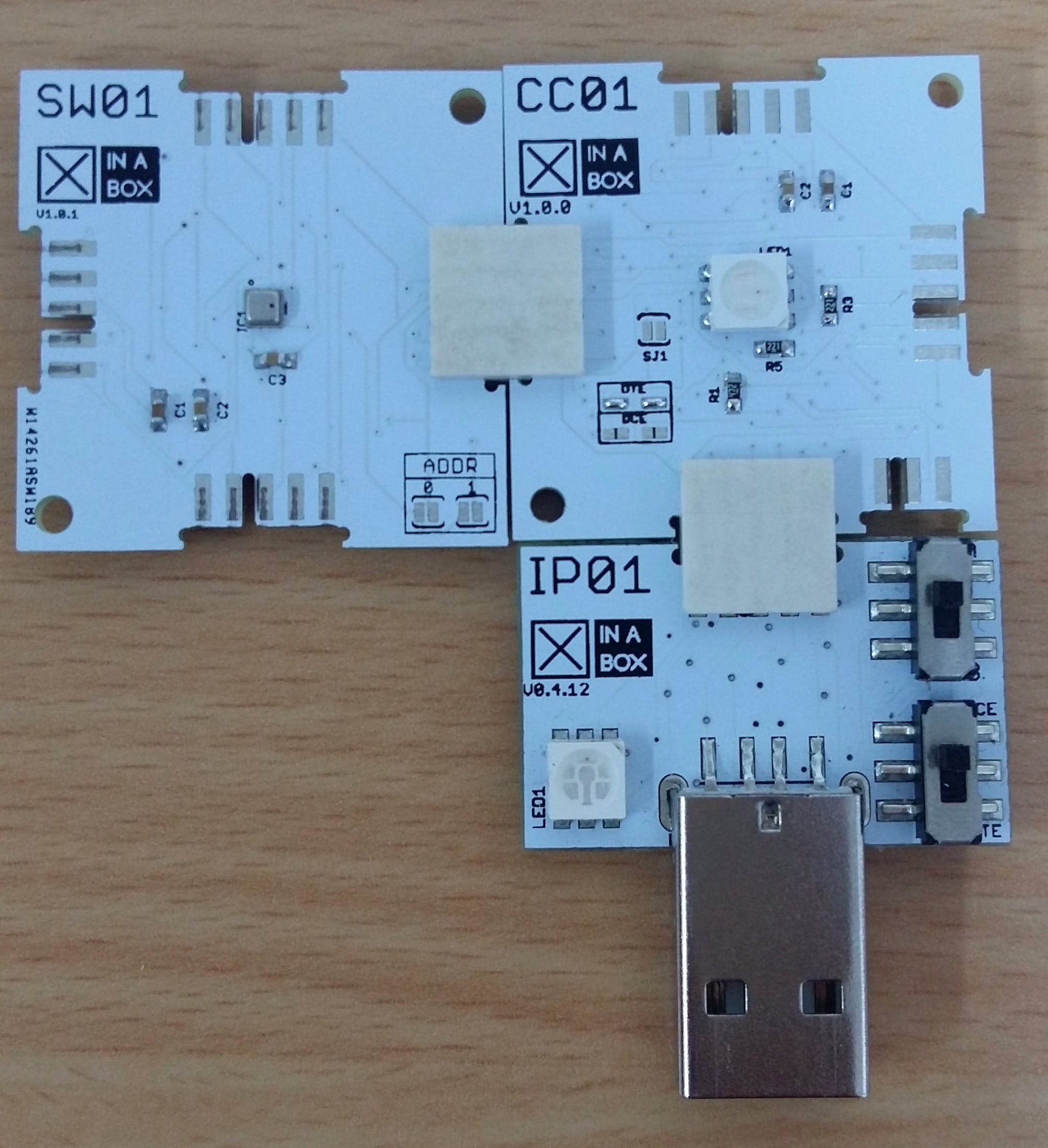 Figure 3: Connected IP01,CC01 and SW01.