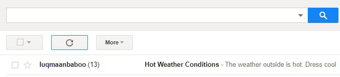 Email Notification reminding you to dress cool.