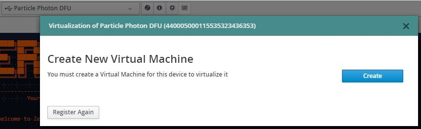 "dialog for ""Create a virtual machine"" appears"