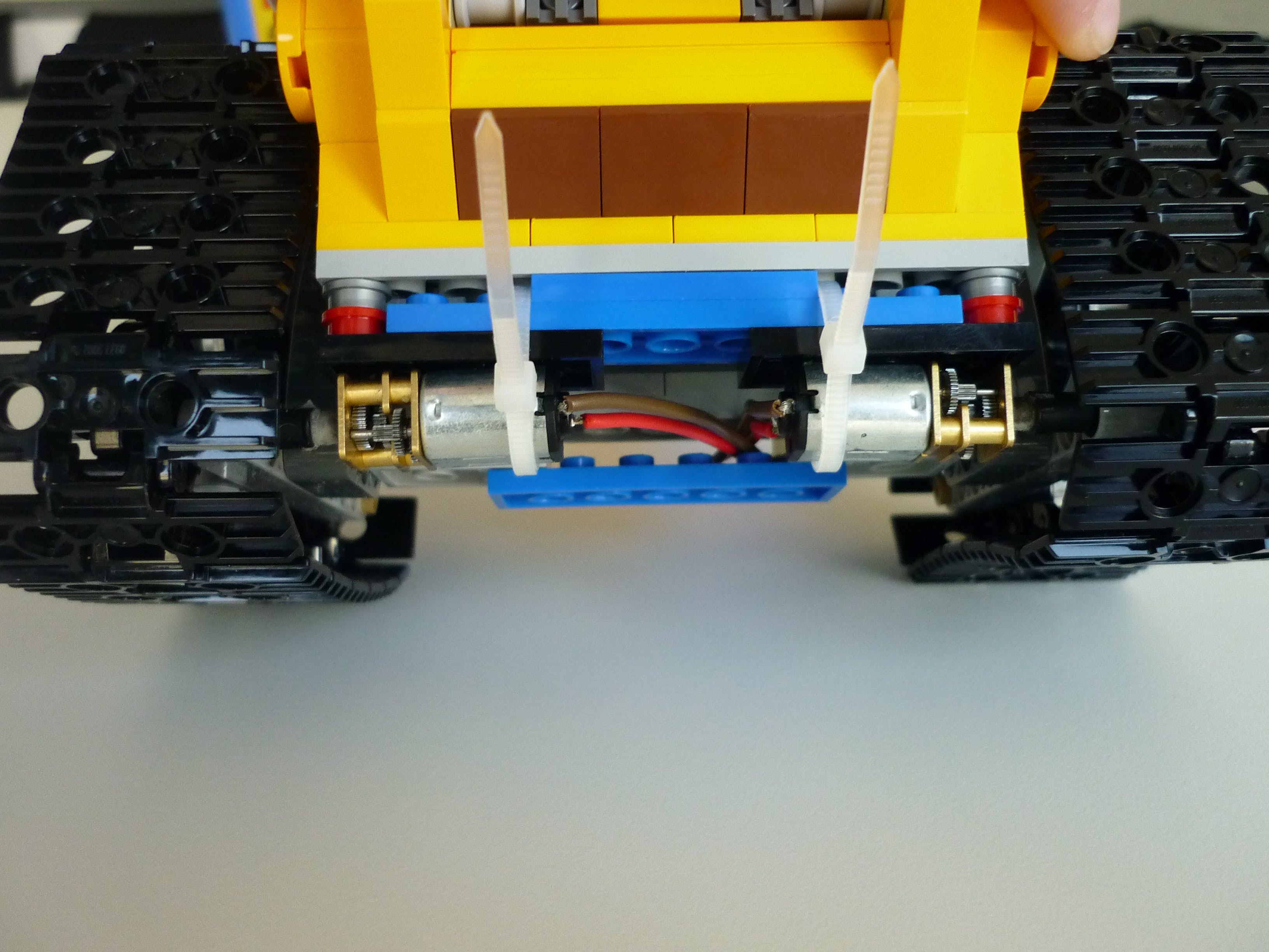 Attaching the motors was a bit tricky.