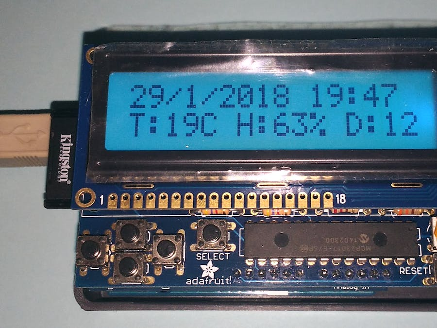 Temperature and Humidity Logger (Using Arduino)