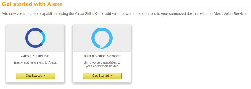 Get started on Alexa Skills Kit
