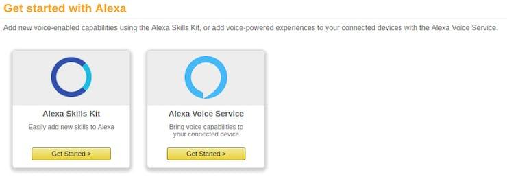 Get started on Alexa Skills Kit
