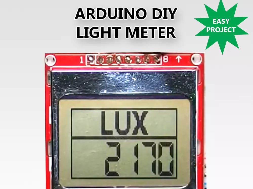 Arduino DIY Light Meter With BH1750 Sensor