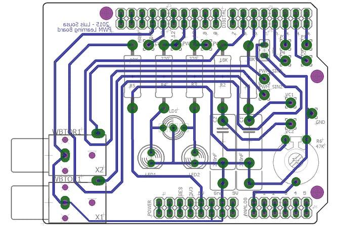 PWM Learning Board Shield PCB image