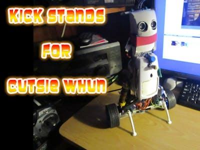 Cutsie Whun: The Balancing Robot Has KickStands