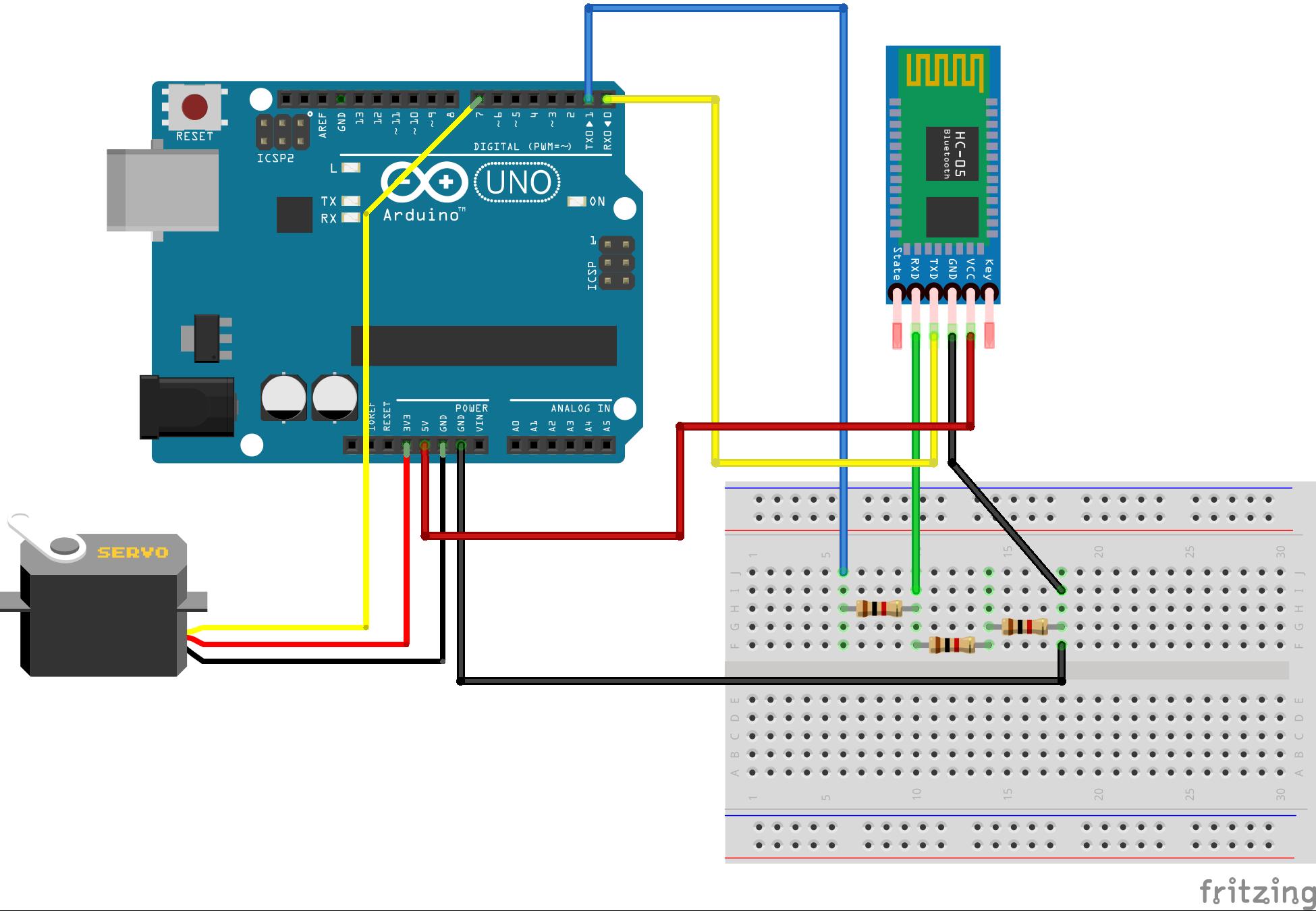 Unlocking Door With Bluetooth Module Circuit Arduino Servo Diagram Lxcgdanbak
