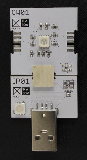 Click together CW01 and IP01 and insert it into the USB port on your computer