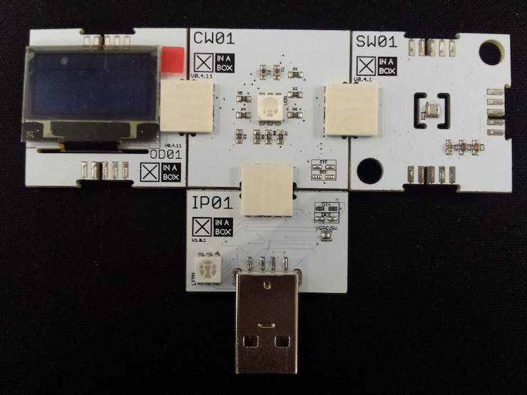 You may connect all your chips together and then insert it into your USB port