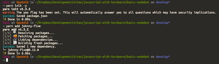 JavaScript with Hardware [Part One]: Making a Simple Nodebot
