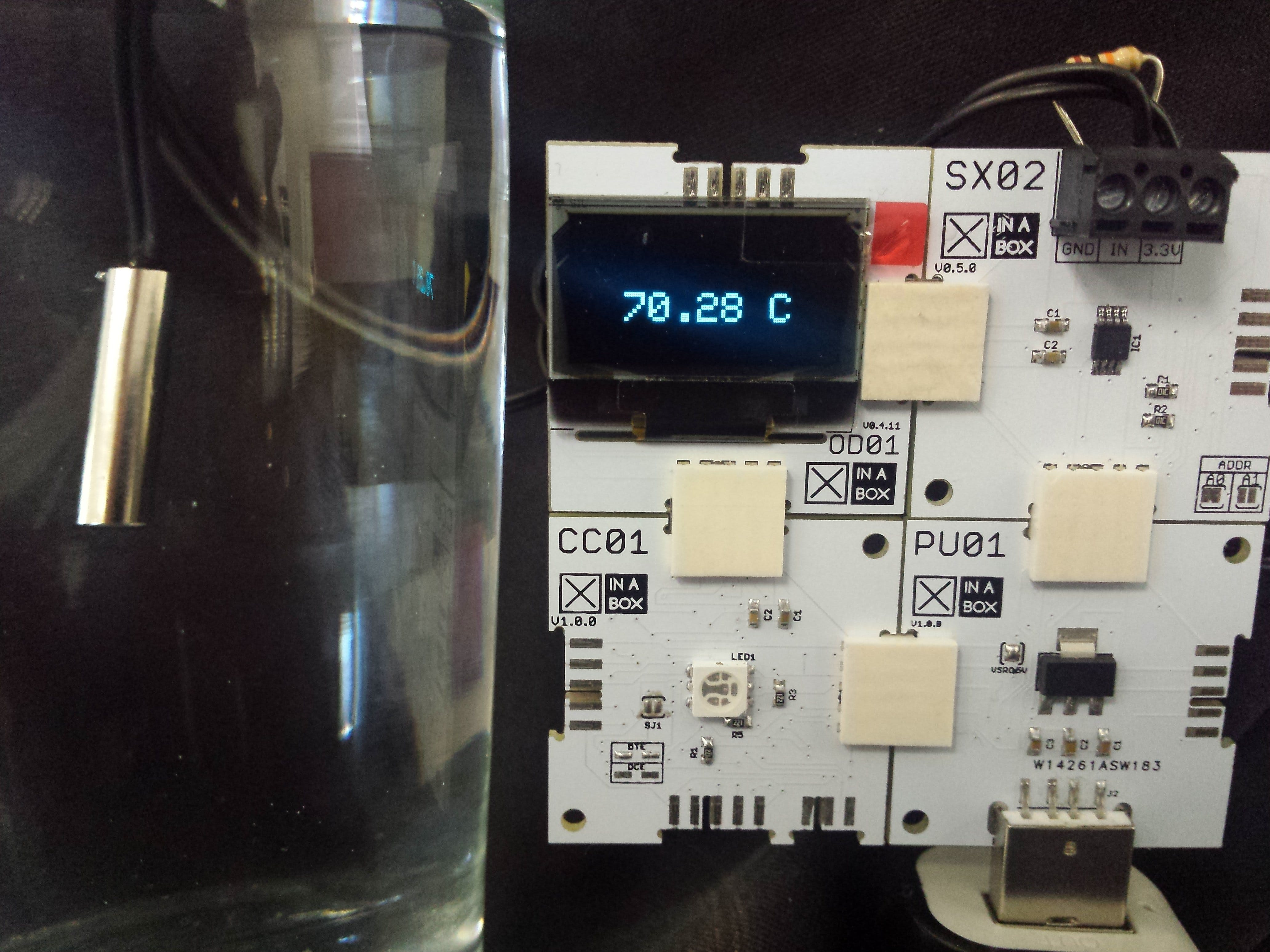 Temperature Measurement Using ☒XinaBox And A Thermistor