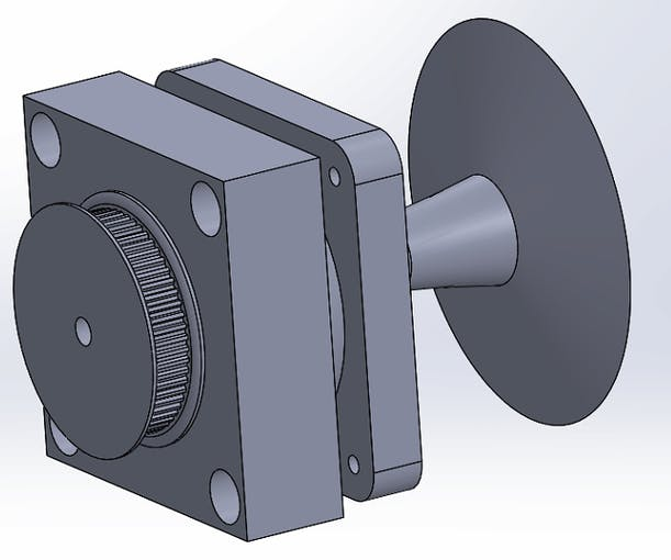 First pass at doorknob turning mechanism