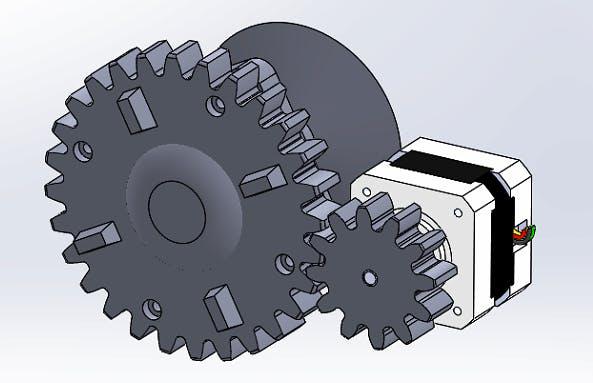 Finalized Gear Doorknob Turning Mechanism