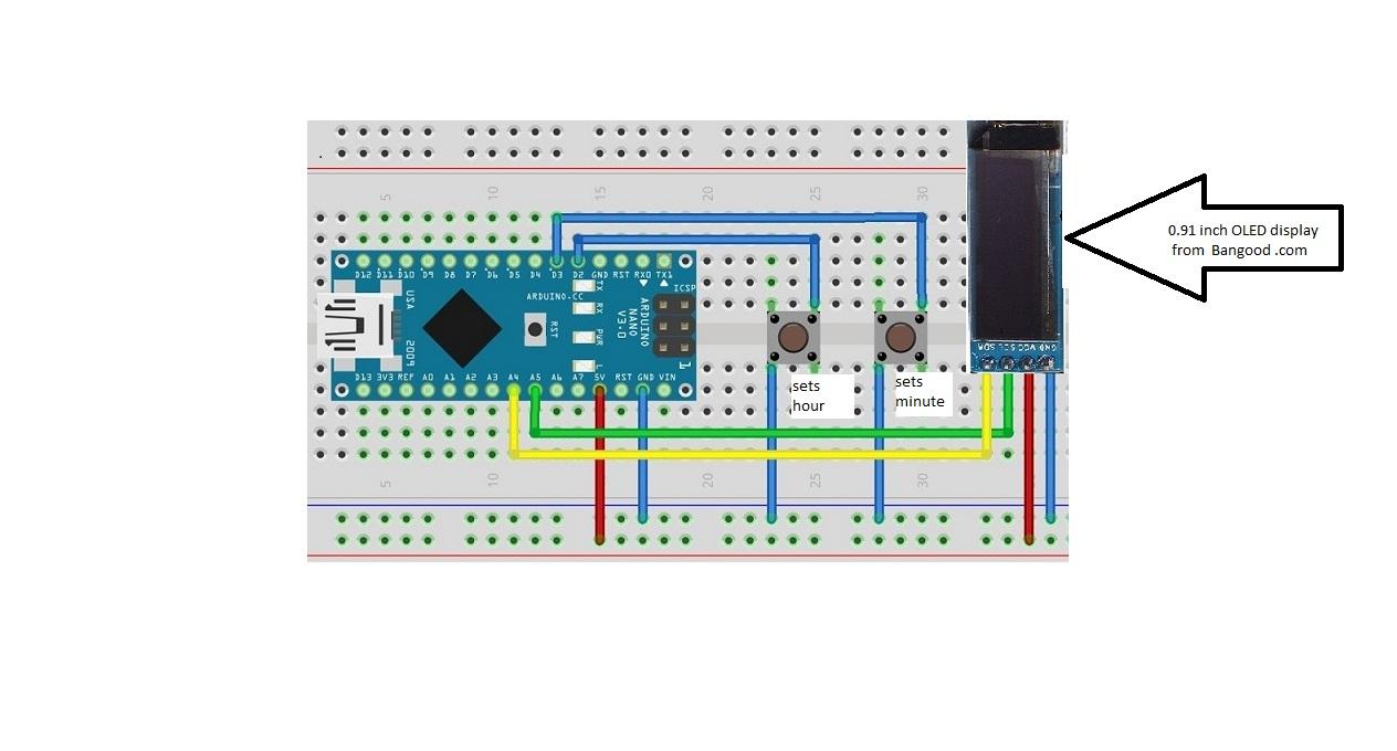 Minimal Parts Oled Word Clock Wiring Arduino Nano Diagram Mmwpjlrg2f