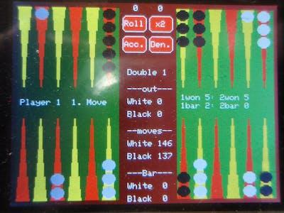 Backgammon for Arduino Due or Mega