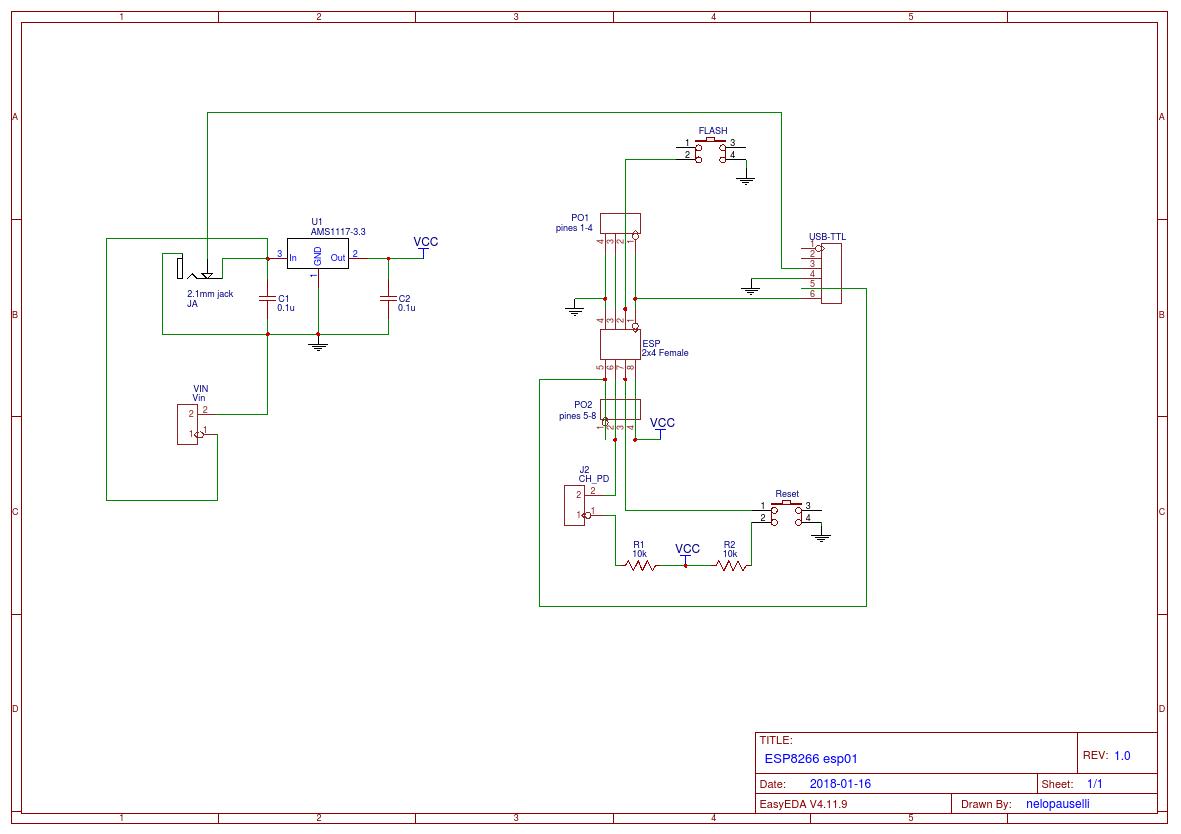 ESP8266 ESP01 Breakout Board - Hackster io
