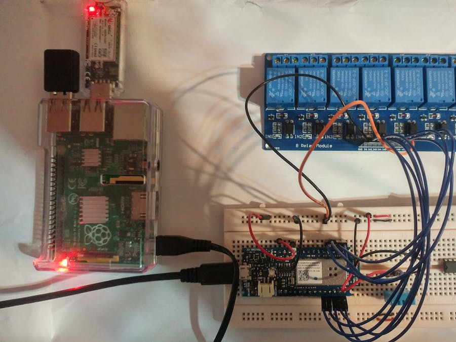 Home Automation System for a Camp with Cellular Internet