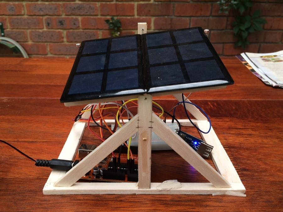 Solar Panel Sun Tracker - Phone Charger - Arduino Project Hub