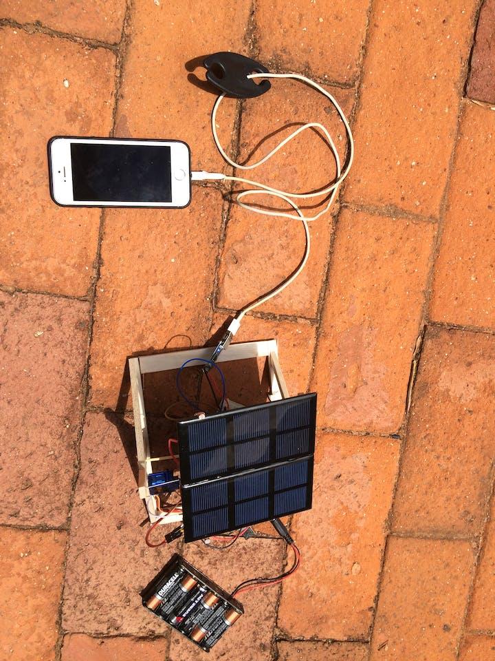 Solar Panel Sun Tracker - Phone Charger - Arduino Project Hub