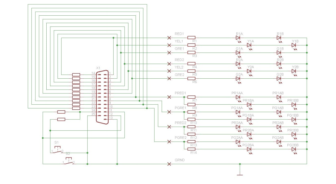 traffic lights controlled by arduino