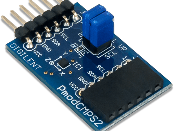 Using the Pmod CMPS2 with Arduino Uno