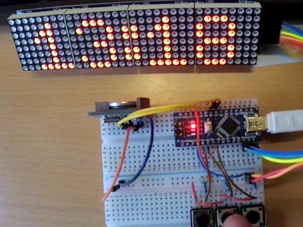 Arduino matrix clock prototype hackster