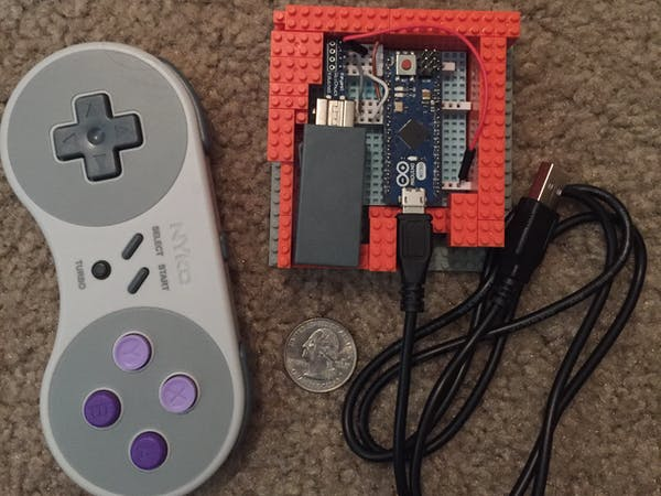 Snes classic controller usb hid arduino project hub
