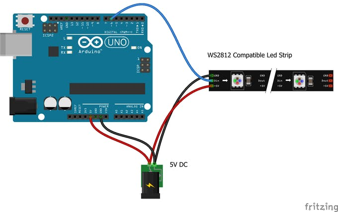 Advanced wiring for driving long strips