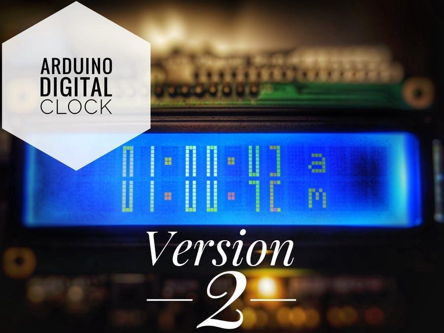 Arduino Digital Clock Version 2 - Hackster io