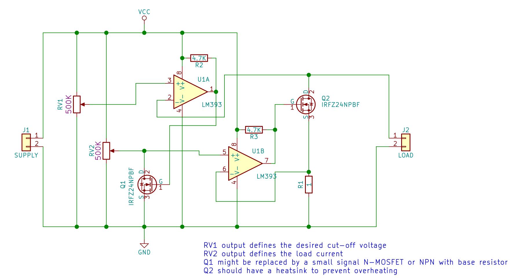 Constant Current Schematic Wiring Schematics Diagram Schematicrev4 Load With Cut Off Voltage Hackster Io Charge Controller Lm393