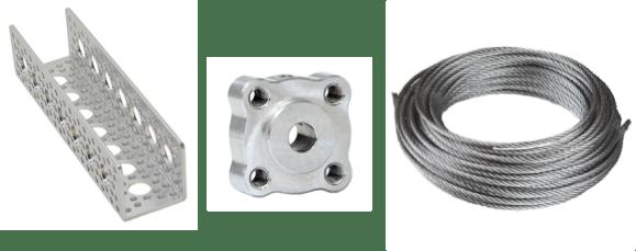 Actobotics Channel, Set-screw hub and metal wire