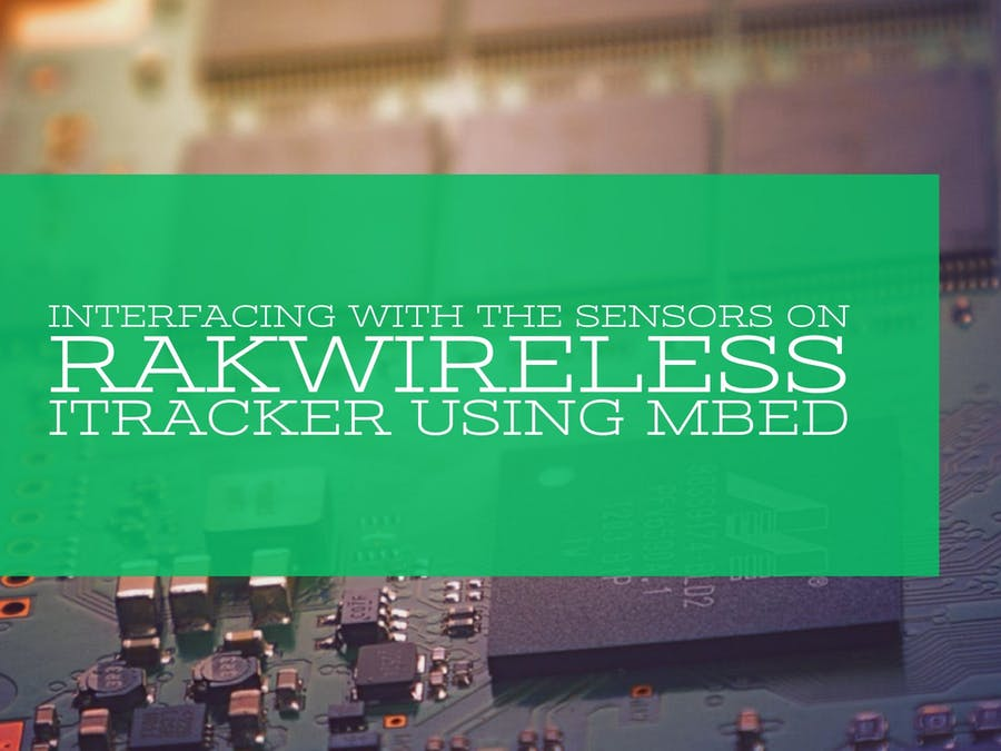 Interfacing with sensors on iTracker using Mbed