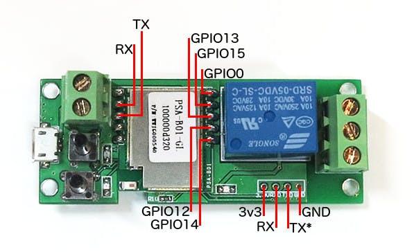 ITEAD PSA-01 GPIO Pinout