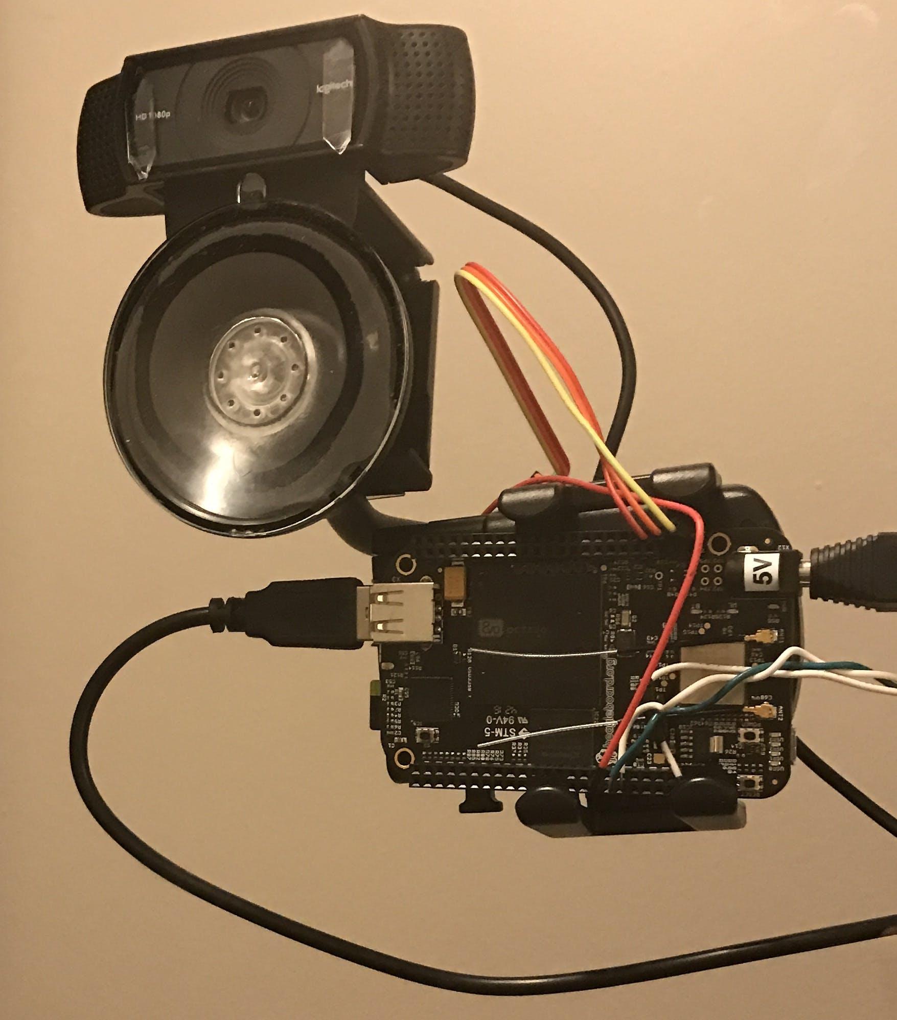 Logitech HD camera + BeagleBone Black Wireless