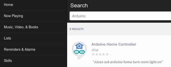 Alexa App section Skills