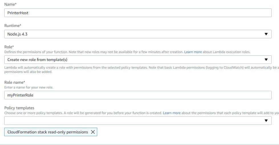 Lambda Function Details