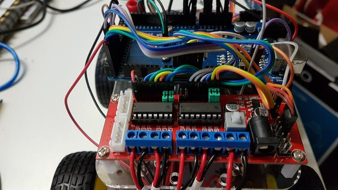 Wiring the motor driver