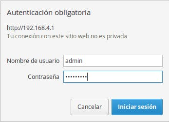 Enter default AP login credentials