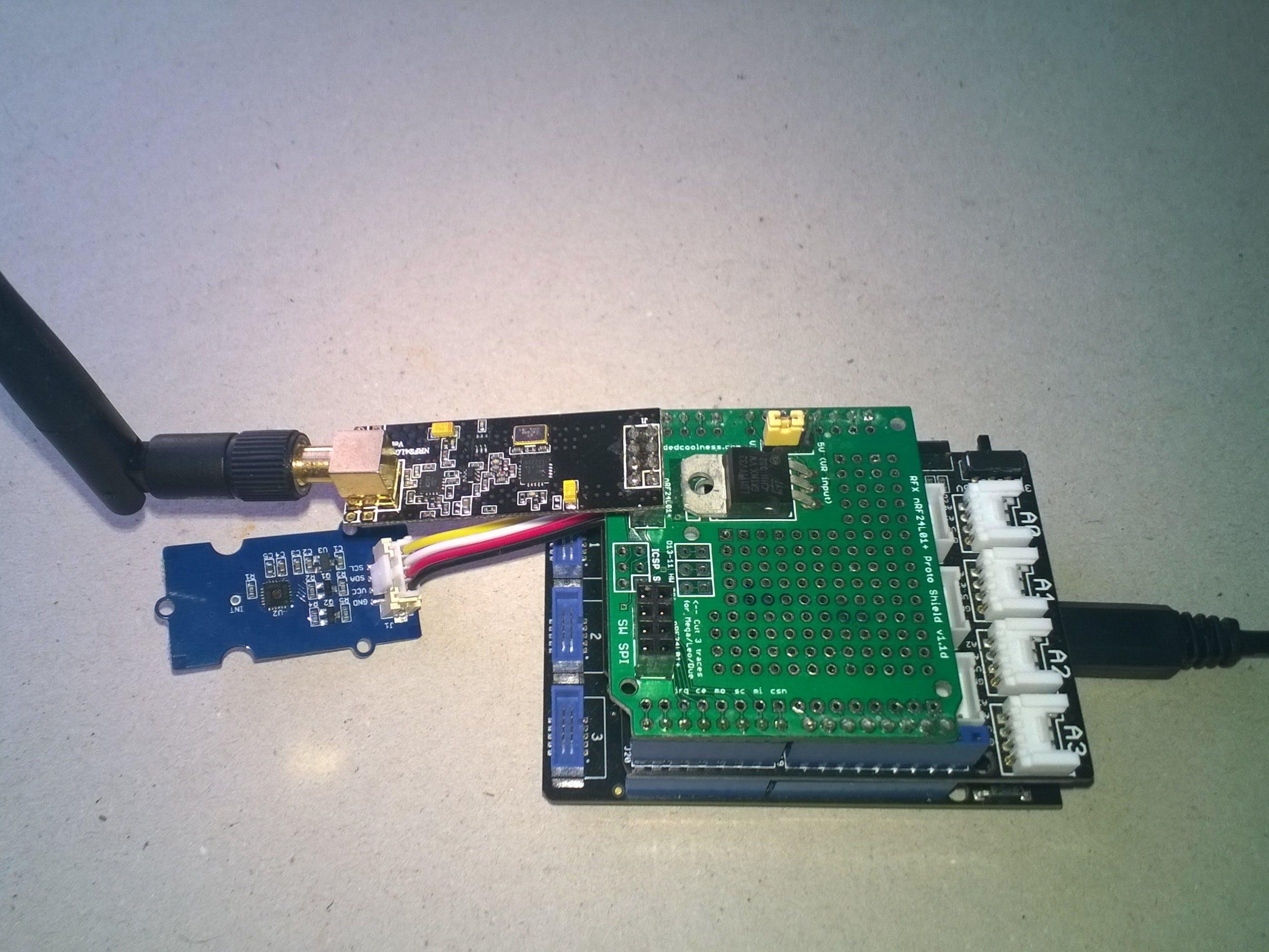 nRF24L01 Windows 10 IoT Core Field Gateway Netduino client