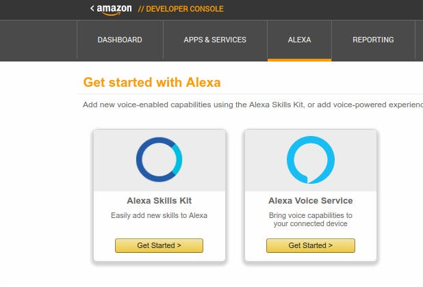 Alexa Developer Console